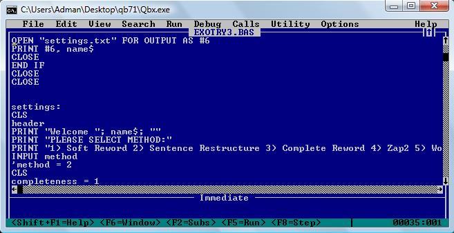 Microsoft quickbasic qbasic скачать бесплатно
